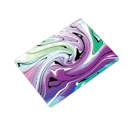 Plastic Jigsaw Puzzle - Multicolour Swirling Marble Pattern 7 of 12