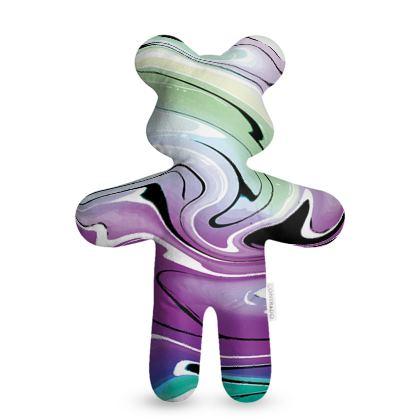 Teddy Bear - Multicolour Swirling Marble Pattern 7 of 12