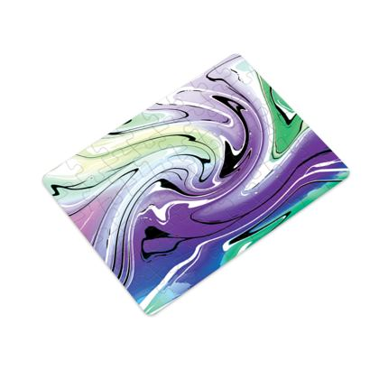 Plastic Jigsaw Puzzle - Multicolour Swirling Marble Pattern 8 of