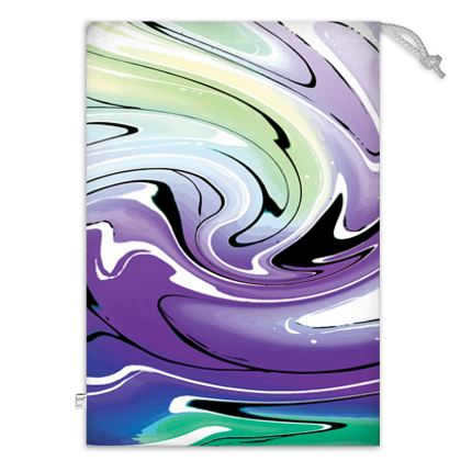 Toy Sack - Multicolour Swirling Marble Pattern 8 of
