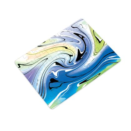 Plastic Jigsaw Puzzle - Multicolour Swirling Marble Pattern 9 of 12