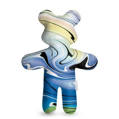 Teddy Bear - Multicolour Swirling Marble Pattern 9 of 12