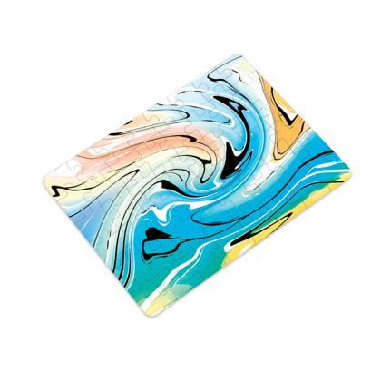 Plastic Jigsaw Puzzle - Multicolour Swirling Marble Pattern 10 of 12