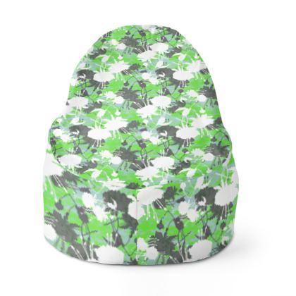 Bean Bags Green,  Botanical  Fuchsias  Minted