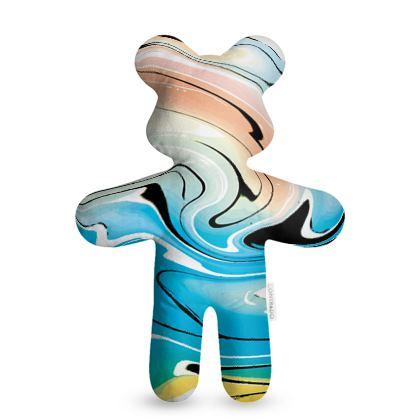 Teddy Bear - Multicolour Swirling Marble Pattern 10 of 12