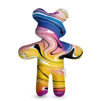 Teddy Bear - Multicolour Swirling Marble Pattern 12 of 12