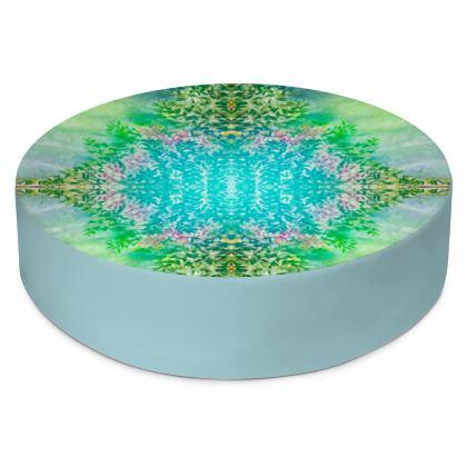 Round Floor Cushions- Blue/ Green