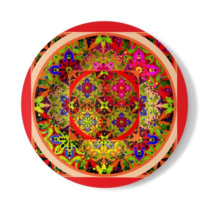 Piatto decorativo con stampa preziosa linea Arabescar