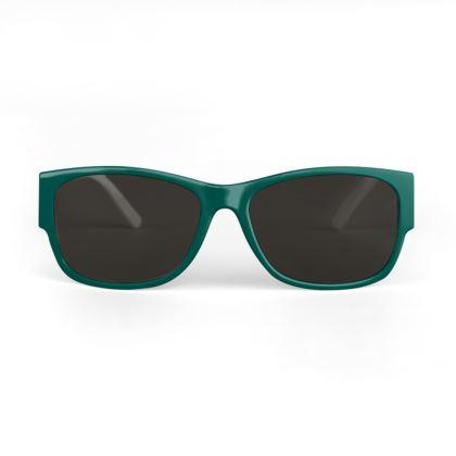 Quirky Studio Pine Designer Sunglasses- Green