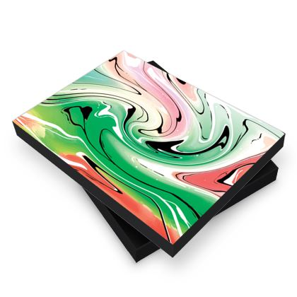 Photo Book Box - Multicolour Swirling Marble Pattern 1 of 12