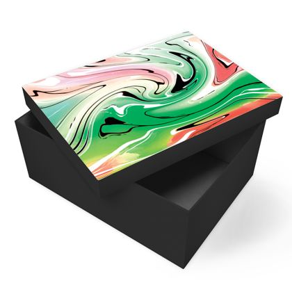 Photo Box - Multicolour Swirling Marble Pattern 1 of 12