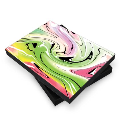 Photo Book Box - Multicolour Swirling Marble Pattern 2 of 12