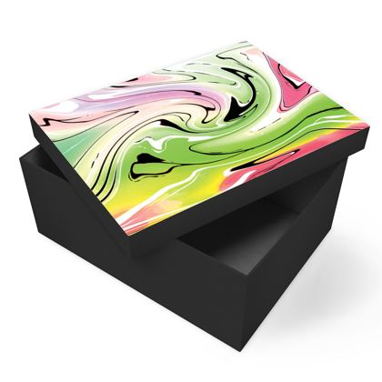 Photo Box - Multicolour Swirling Marble Pattern 2 of 12