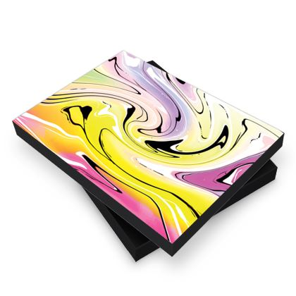 Photo Book Box - Multicolour Swirling Marble Pattern 3 of 12
