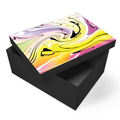 Photo Box - Multicolour Swirling Marble Pattern 3 of 12