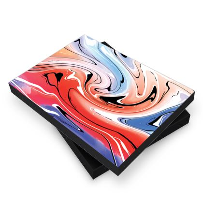Photo Book Box - Multicolour Swirling Marble Pattern 5 of 12