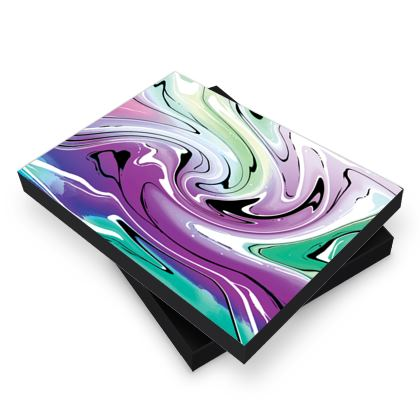 Photo Book Box - Multicolour Swirling Marble Pattern 7 of 12