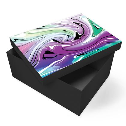 Photo Box - Multicolour Swirling Marble Pattern 7 of 12