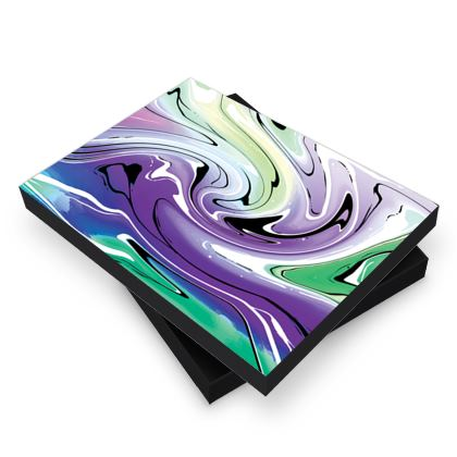 Photo Book Box - Multicolour Swirling Marble Pattern 8 of 12