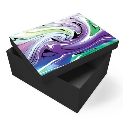 Photo Box - Multicolour Swirling Marble Pattern 8 of 12