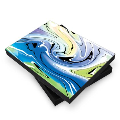 Photo Book Box - Multicolour Swirling Marble Pattern 9 of 12