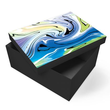 Photo Box - Multicolour Swirling Marble Pattern 9 of 12
