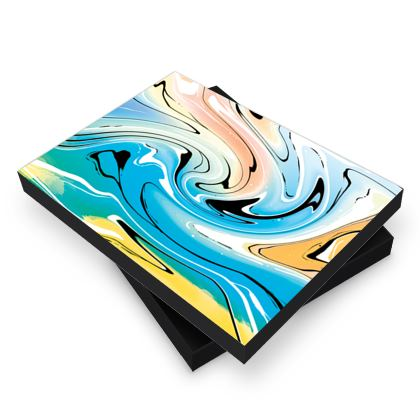 Photo Book Box - Multicolour Swirling Marble Pattern 10 of 12