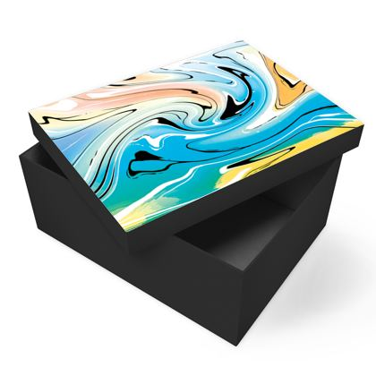 Photo Box - Multicolour Swirling Marble Pattern 10 of 12