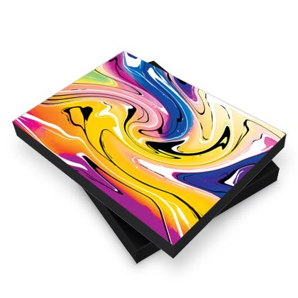 Photo Book Box - Multicolour Swirling Marble Pattern 12 of 12