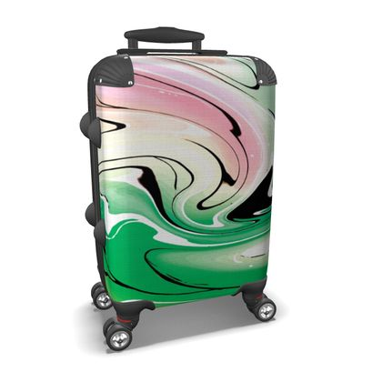 Suitcase - Multicolour Swirling Marble Pattern 1 of 12