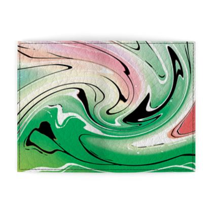Passport Cover - Multicolour Swirling Marble Pattern 1 of 12