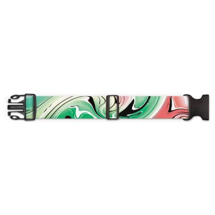 Luggage Strap - Multicolour Swirling Marble Pattern 1 of 12