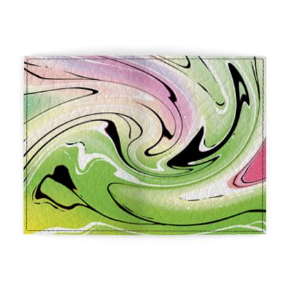 Passport Cover - Multicolour Swirling Marble Pattern 2 of 12