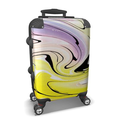 Suitcase - Multicolour Swirling Marble Pattern 3 of 12