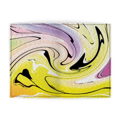 Passport Cover - Multicolour Swirling Marble Pattern 3 of 12