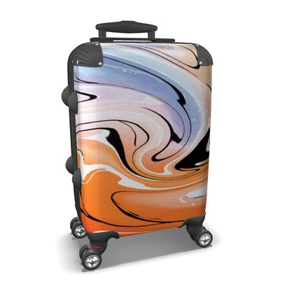 Suitcase - Multicolour Swirling Marble Pattern 4 of 12