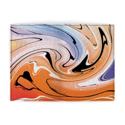 Passport Cover - Multicolour Swirling Marble Pattern 4 of 12