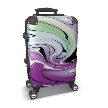 Suitcase - Multicolour Swirling Marble Pattern 7 of 12