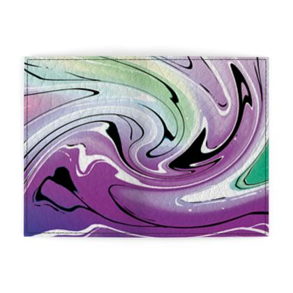 Passport Cover - Multicolour Swirling Marble Pattern 7 of 12