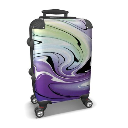 Suitcase - Multicolour Swirling Marble Pattern 8 of 12