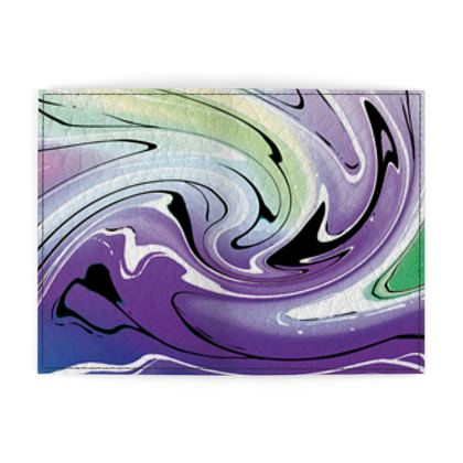 Passport Cover - Multicolour Swirling Marble Pattern 8 of 12