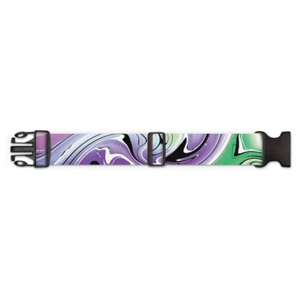 Luggage Strap - Multicolour Swirling Marble Pattern 8 of 12