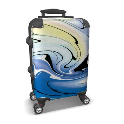 Suitcase - Multicolour Swirling Marble Pattern 9 of 12
