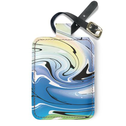 Luggage Tags - Multicolour Swirling Marble Pattern 9 of 12
