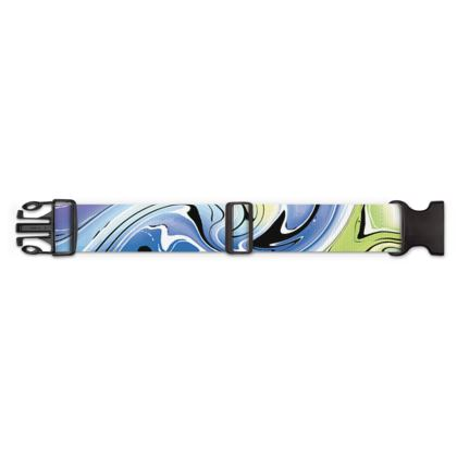 Luggage Strap - Multicolour Swirling Marble Pattern 9 of 12