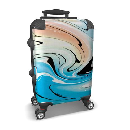 Suitcase - Multicolour Swirling Marble Pattern 10 of 12