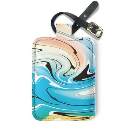 Luggage Tags - Multicolour Swirling Marble Pattern 10 of 12