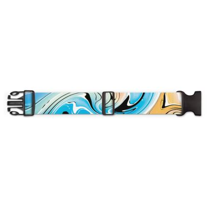 Luggage Strap - Multicolour Swirling Marble Pattern 10 of 12