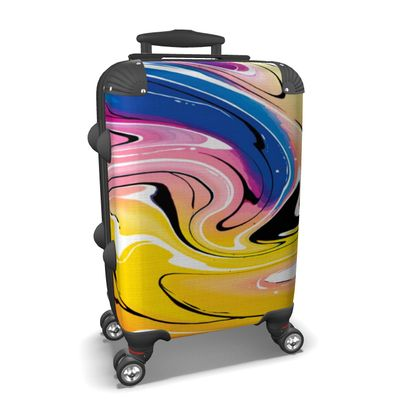Suitcase - Multicolour Swirling Marble Pattern 12 of 12