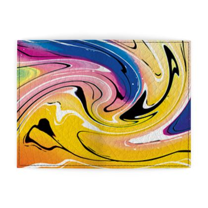 Passport Cover - Multicolour Swirling Marble Pattern 12 of 12